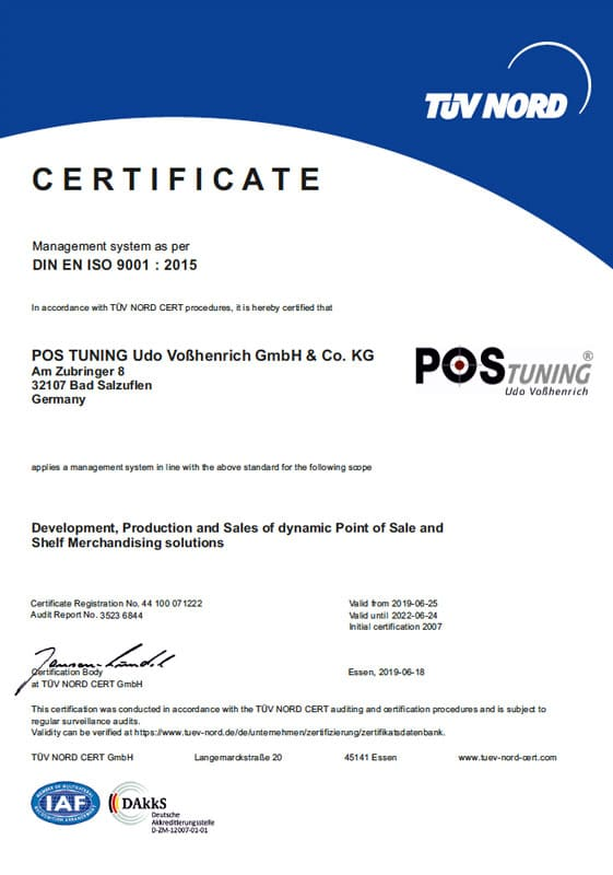 POS TUNING ISO Certificate 2020