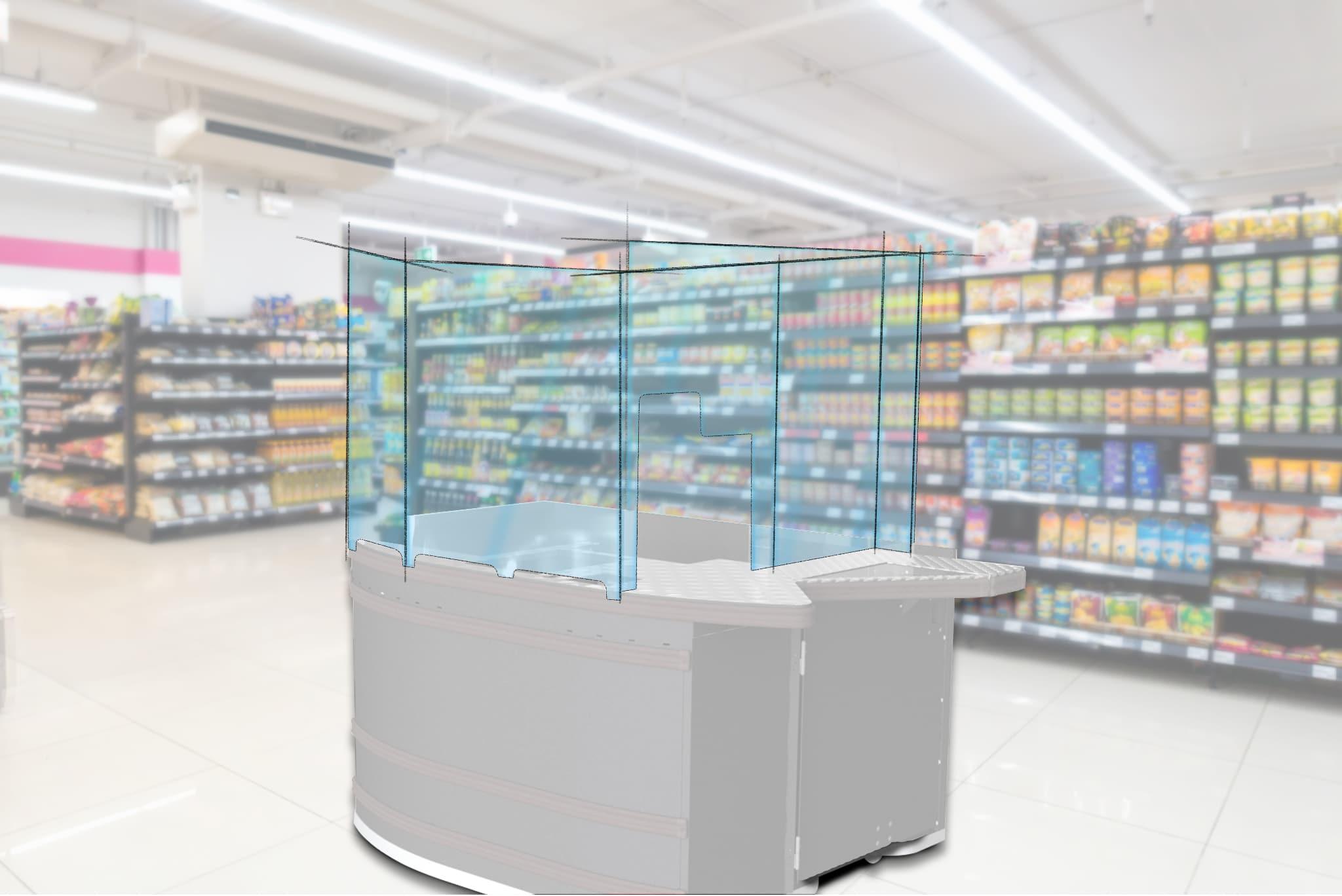 Schutz für Mitarbeiter und Kunden – Hygiene-Schutzwände für Kassen